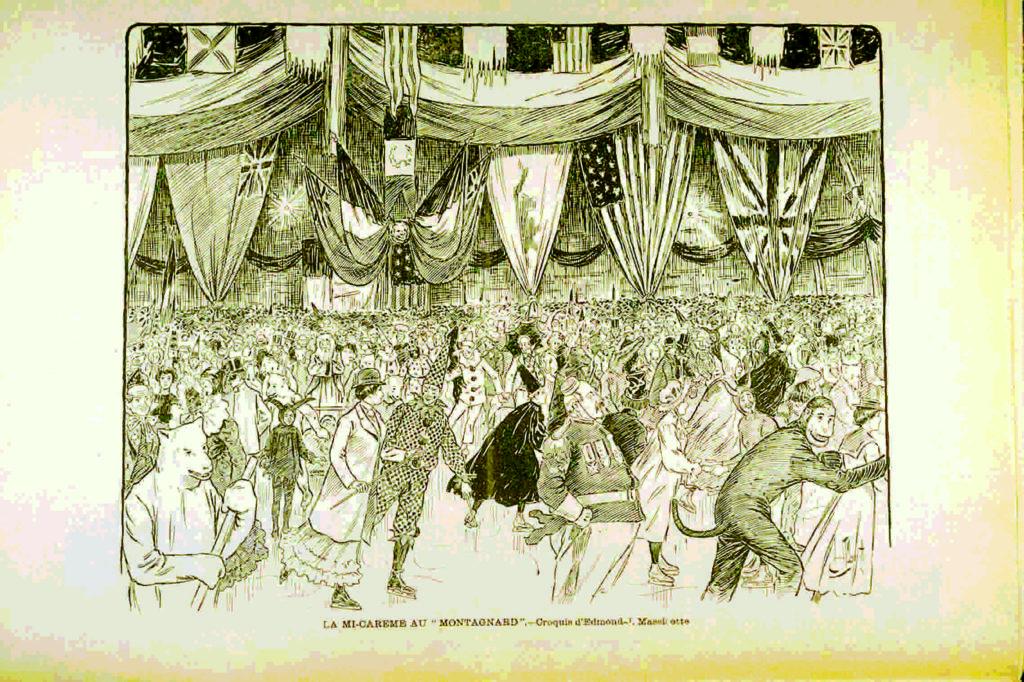 Mascarade de la mi-carême au Stadium Le Montagnard, Le Monde illustré, vol. 17, no 882, p. 802, 30 mars 1901, Bibliothèque et Archives nationales du Québec