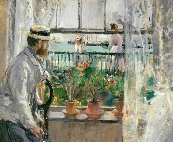 """Berthe Morisot, """"Eugène Manet à l'île de Wight"""", 1875.Huile sur toile, 38 x 46 cm. Paris, Musée Marmottan-Monet"""