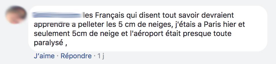 Arrogance des Francais